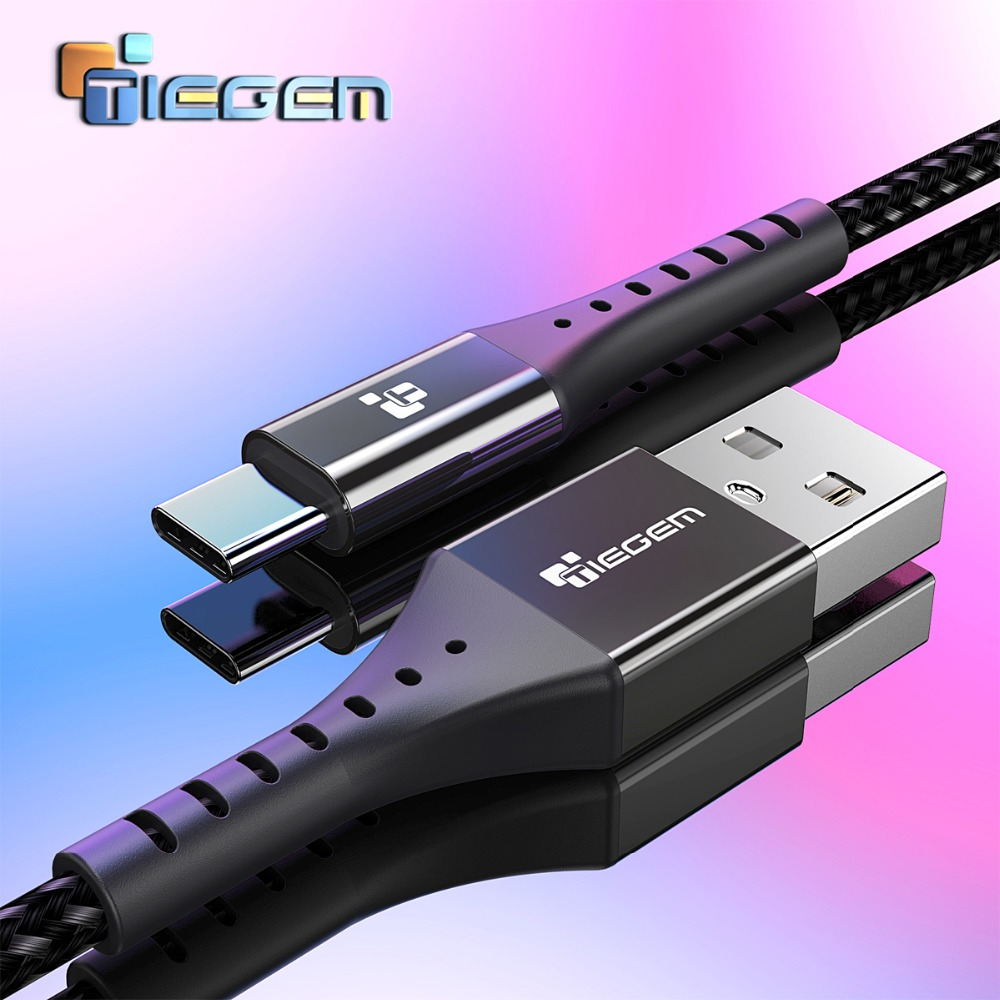 TIEGEM USB Type C Cable For Samsung Galaxy S9 S8 Note 8 Plus Fast Charging Cable For Xiaomi Mi 5 Oneplus 6 USB Type C Cable P20|Mobile Phone Cables|   - AliExpress