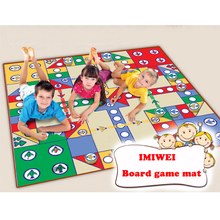Купить с кэшбэком IMIWEI Baby Play Mats Interactive Game Mat For Kids Toys Baby Toys Mat For Children Developing Rug Kids Educational Flying Che