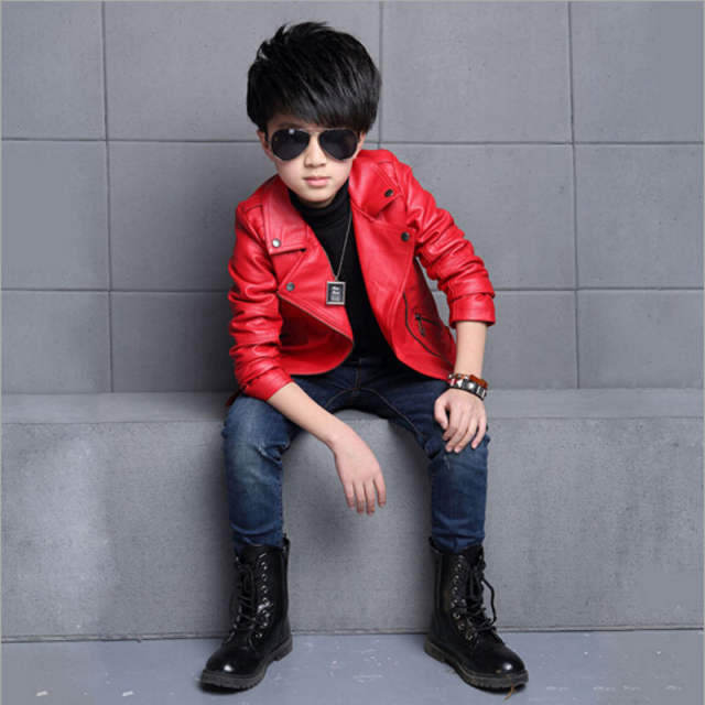 891b5f70e03e Online Shop Jacket Spring Autumn Fashion Kids Leather Jacket boys PU ...