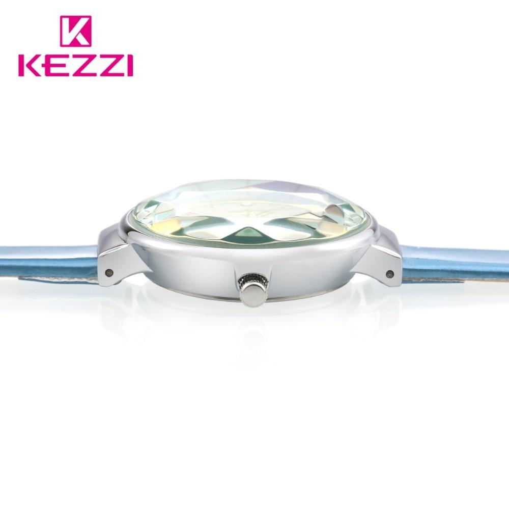 Kvinde elegante læder ure 2018 luksus kvinder ure top mærke diamond - Dameure - Foto 2
