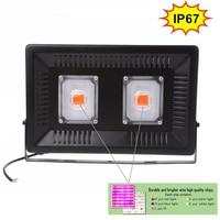 IP67 water proof Full spectrum LED Grow light 50W 100W full power AC110V 220V 50/60hz LED Growing lamp 100W LED grow light