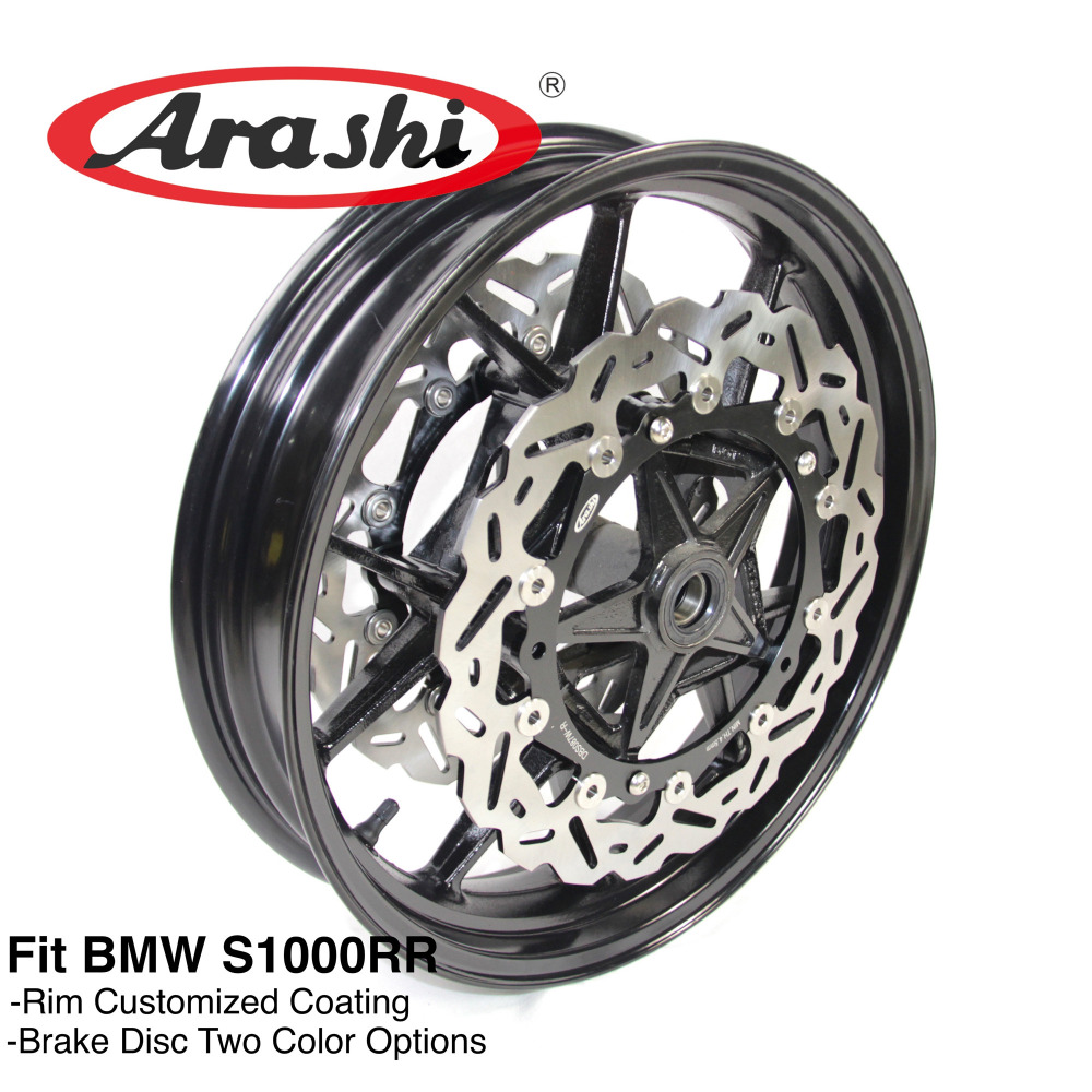 Arashi S1000RR 09-15 Front Wheel Rim Front Brake Discs Rotors For BMW S1000 S 1000 RR 1000RR 2009 2010 2015 2012 2013 2014 2015 hot sales for bmw s1000rr fairing s1000 rr s 1000rr s1000 rr 2010 2014 red black white bodywork fairings kit injection molding