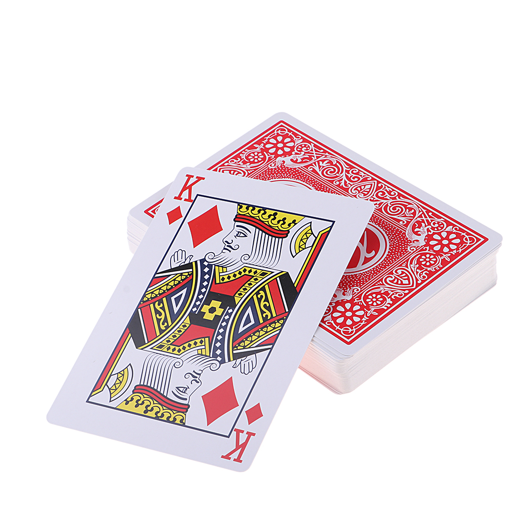 88x126mm Extra Large Oversized Playing Cards Big Cards Large Poker 2 Times Poker Funny Party Cards Poker Board Table Games