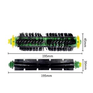 Image 2 - Brosses de roue avant et filtre plat pour iRobot Roomba 500 Series 520 530 540 550 560 570 580 pièces de rechange pour aspirateur
