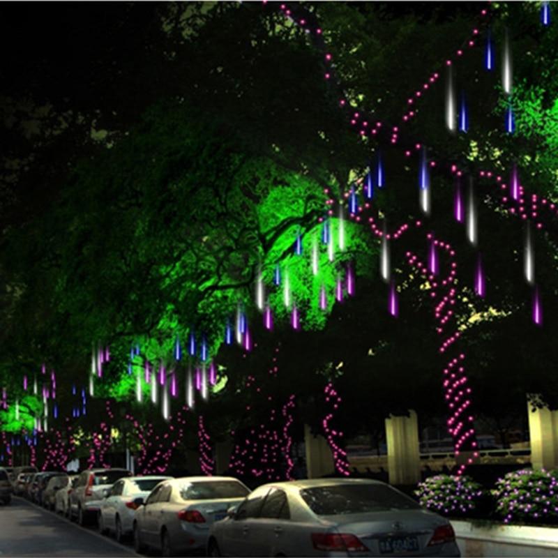 Meteor Tuš kiša 144led 8 cijevi AC100-240V LED niz Božićna - Rasvjeta za odmor - Foto 2