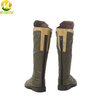 The Avengers 3 Thanos Cospaly Boots Brown PU Leather Boots Cosplay Accessories Adult Men Shoes For Halloween