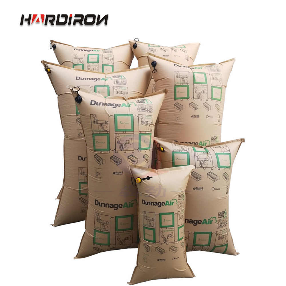 HARDIRON Recyclable Air Packing Dunnage Bag Heavy Duty Inflatable Container Air Bag Durable Kraft Paper Dunnage Bags For Load