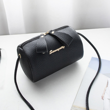 women handbag small purse bucket bag cell phone shoulder cute solid barrel-shaped fashion cross body zipper bags