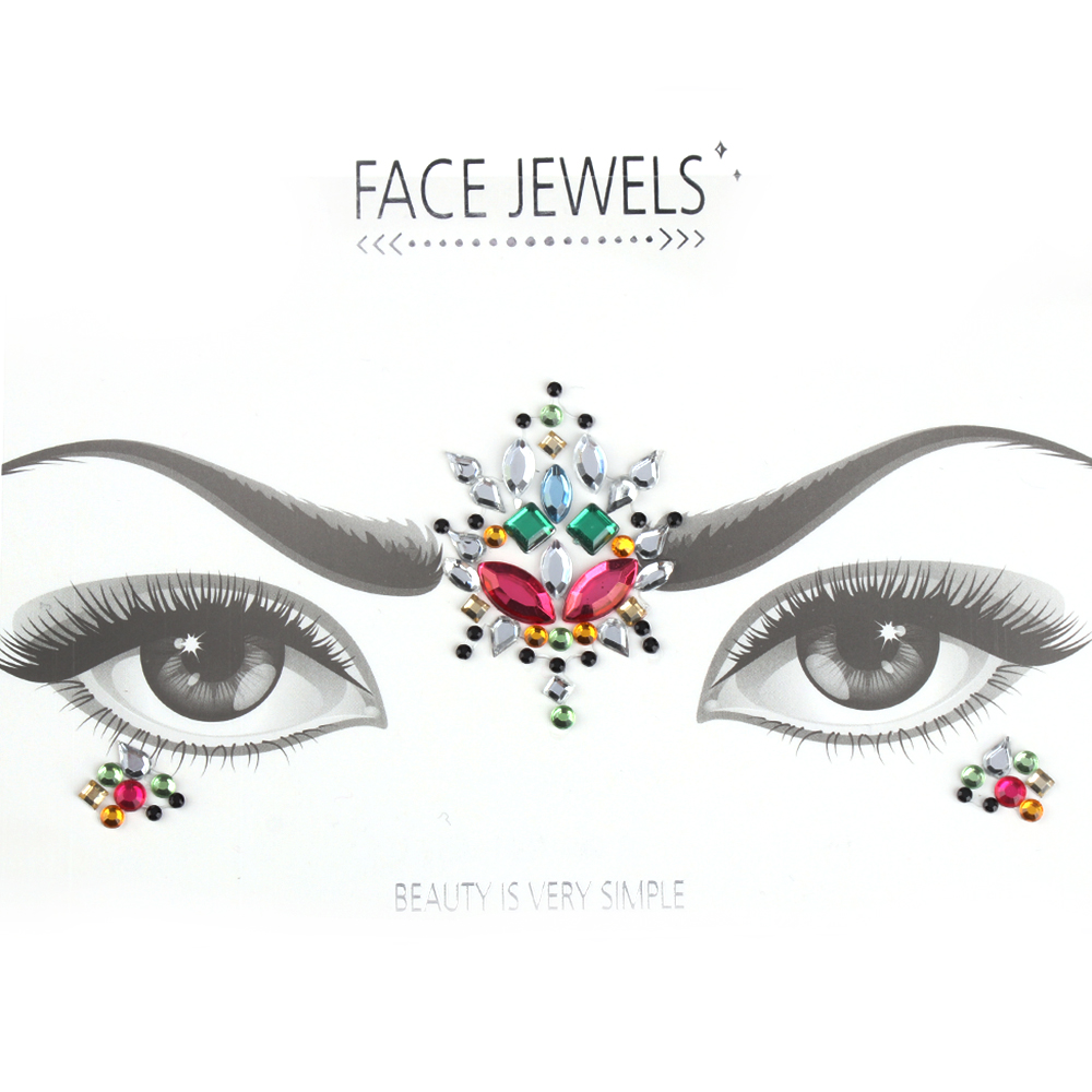 Fashion DIY Adhesive Face Gems Rhinestone Temporary Tattoo Jewels Festival  Party Body Glitter Stickers Makeup Xmas Decor-in Temporary Tattoos from  Beauty ... f1eb1f4c11a0