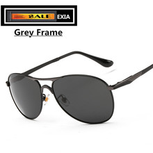 Metal Sunglasses Frame for Men Design Grey Lenses UV400 Anti-reflective Blue Coatings EXIA OPTICAL KD-8722 Series