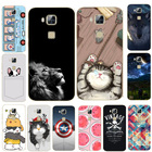 For Huawei GX8 Case 5.5 inch Cover Cat Lion Animal Cartoon Phone Capa Soft TPU Silicon Coque For Huawei G8 RIO L01 L02 Fundas
