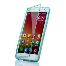 Xiaomi mi 4 case флип силиконовые тпу сенсорный экран прозрачная крышка Mi4 Коке Fundas Полный Протектор Сумка Случаи Прозрачный Carcasa 5.0″