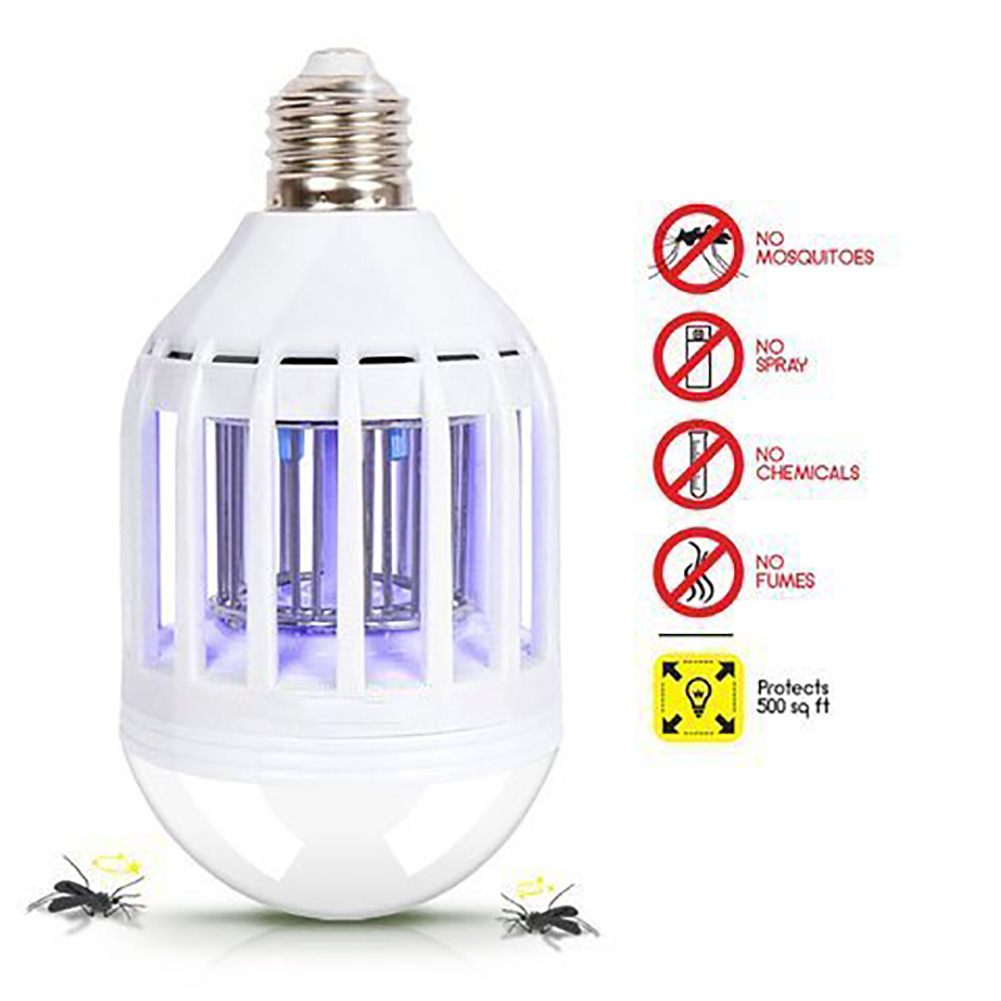 Novelty Lighting Linkax Outdoor Led Mosquito Killer Lamp Flying Insects Led Zapper Lamp Buld 220v 15w Led Zapper Lamp E27/ E26 Night Light Elegant In Smell