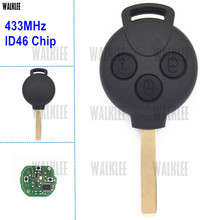 WALKLEE Remote Key fit for Mercedes-Benz Smart Smart Fortwo 451 433MHz ID46 (PCF7941) Chip 2007-2015