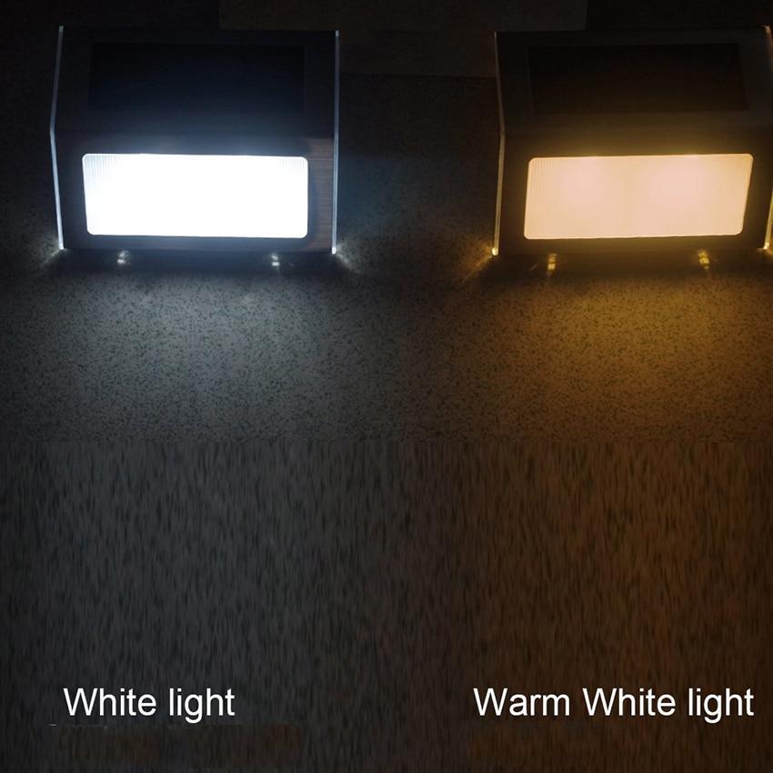 6 pçslote aço inoxidável led luzes solares