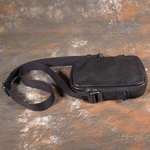Image 3 - AETOO بسيطة صغيرة عليقة هاتف محمول حقيبة صغيرة crossbody حقيبة كتف الرجال حقيبة جلدية الطبقة الأولى غير رسمية