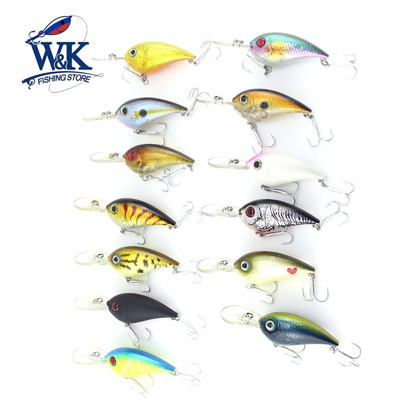 6 cm Crankbaits 10 g Floating Pro Hard Lure at 2.1m~2.4m Swimming Depth Jerkbait Wobbler Freshwater Bass Fishing Lures Hard Bait