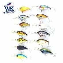W&K Brand 6CM 10G Floating Professional Crankbait Minnow Hard Lure Jerkbait Wobbler Freshwater Bass Fishing Lures CR502(China)