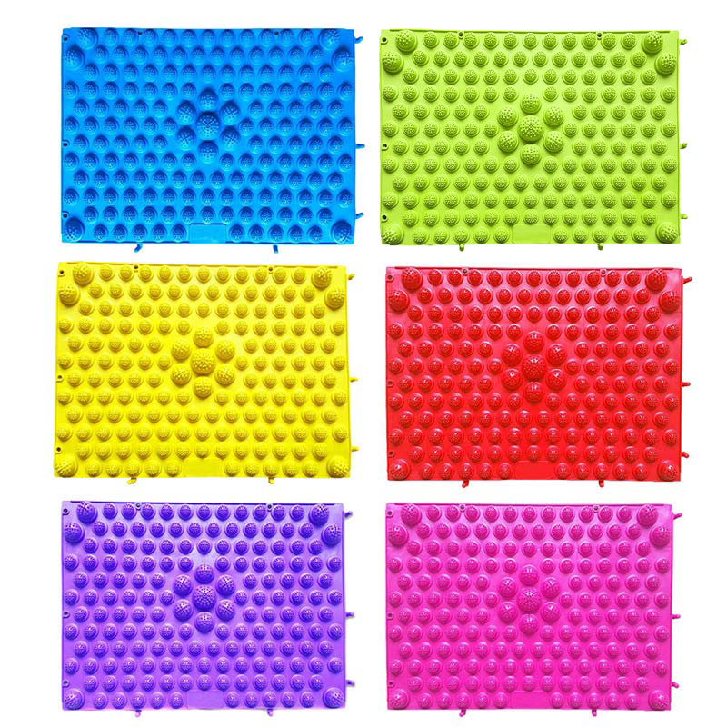 2018 Colorful New Durable Reflexology Foot Massage Pad Toe Pressure Blood Circulation Plate Mat For Massager Health Care Tool TK