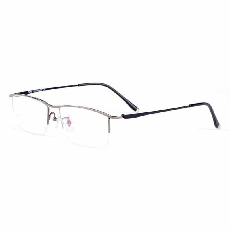 Reven Jate Glasses Half Rim Eyeglasses Titanium Frame Optical Lens  Prescription Eye Glasses Frame Eyewear|Men's Eyewear Frames| - AliExpress
