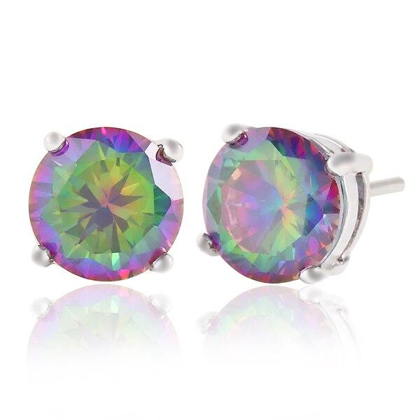 Imixbox бренд Дизайн Новая мода покрытие шарм красочные хрустальные серьги серебро себе Серьги женские украшения