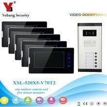 YobangSecurity 1-Camera 5-Monitor 7″ Video DoorPhone Video Intercom Home Doorbell System Night Vision 2-way Access Control