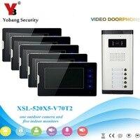 1 Camera 5 Monitor 7 Video DoorPhone Video Intercom Home Doorbell System Night Vision 2 Way