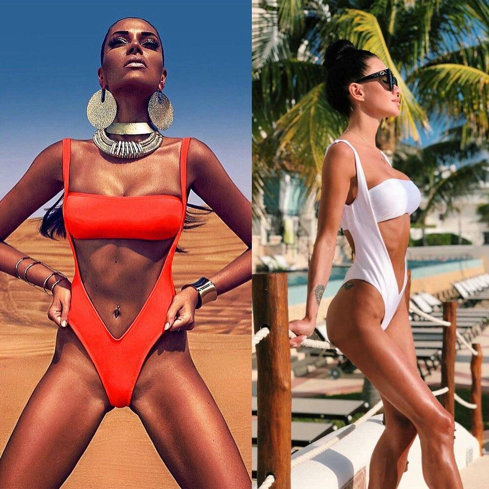 Womail Womens Sexy Piece Of Swimsuit Solid Bandeau Bikini 2018 female Swimwear Bathing Beachwear monokini Push Up Swiming Suit