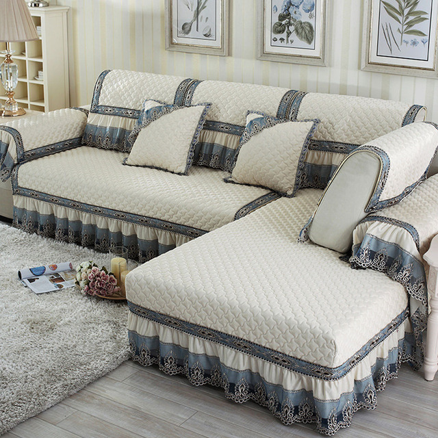 Aliexpress.com : Buy Solid Polyester Fabric Sofa Cover