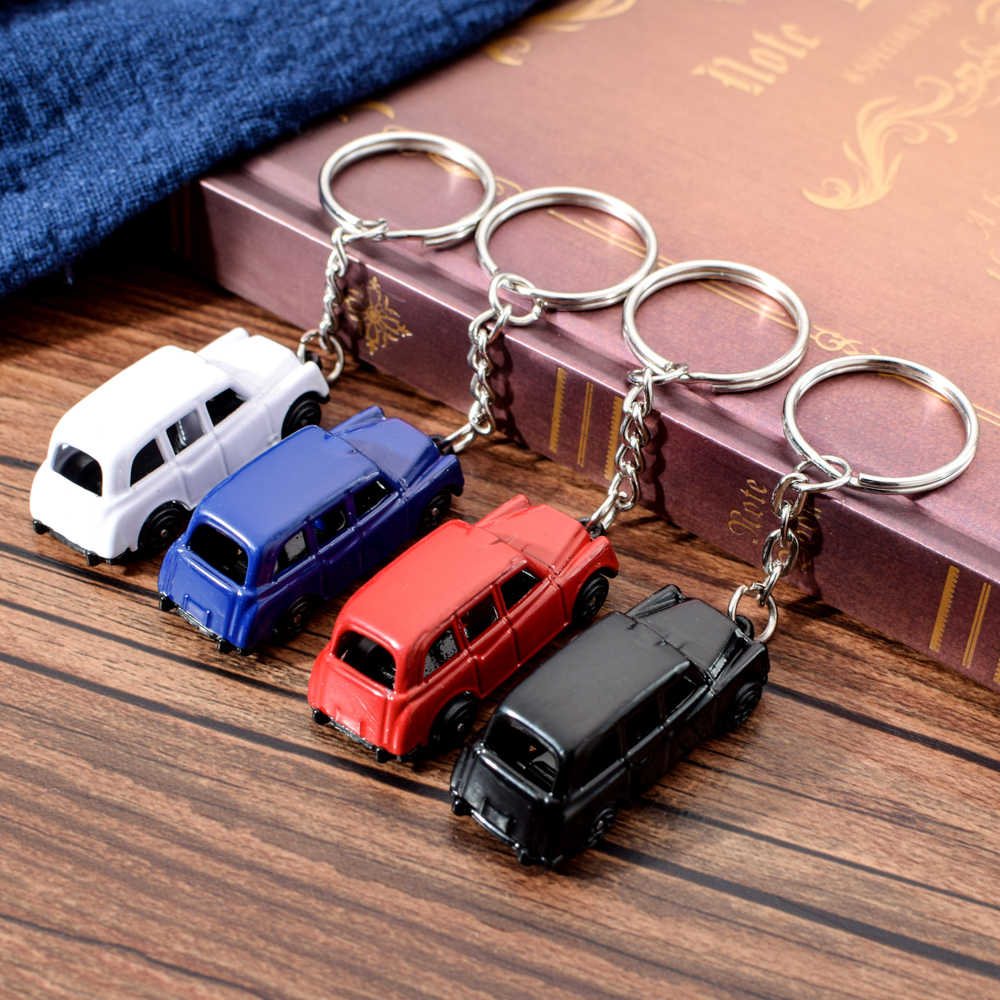 Vicney New Arrival Four Color Taxi Key Chain High Quslity Zinc Alloy Car Keychain For Men Fashion Jewelry Key Chain Ring For key