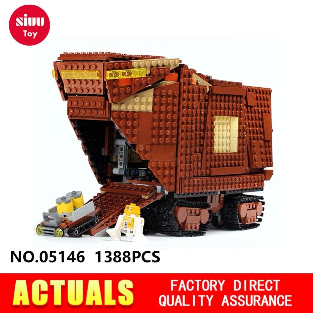 Compatible avec Legoes blocs de Construction Star War Désert Creeper Sandscrawler 05146 Cadeaux Éducatifs pour les Garçons 1388 pcs GK30