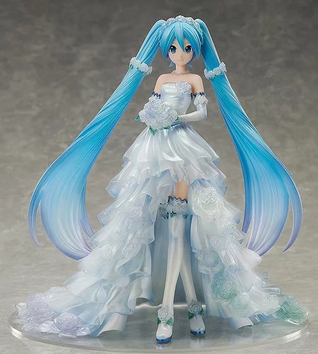 Nouveau 25 cm Anime Hatsune Miku robe de mariée Ver. Figurine d'action en PVC à l'échelle 1/7 jouets à collectionner pour enfants cadeau