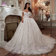 Waulizane Vintage Sweetheart Ball Gown Wedding Dress With Delicated Appliques Princess