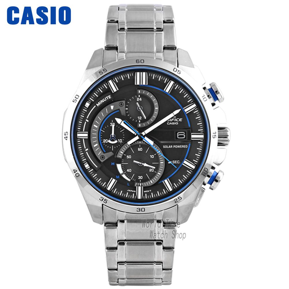 Casio Watch Casual Business Solar Waterproof Fashion Men's Watch EQS-600D-1A2 EQS-600D-1A9 EQA-600D-1A2 EQS-600BL-1A casio eqs a1000rb 1a