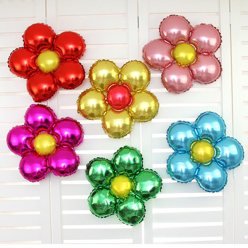 1 шт. 18 дюймов цветы Алюминий воздушный шарик из фольги в форме милые игрушки Свадебные сувениры и подарки для детей день рождения украшения гелиевые шары