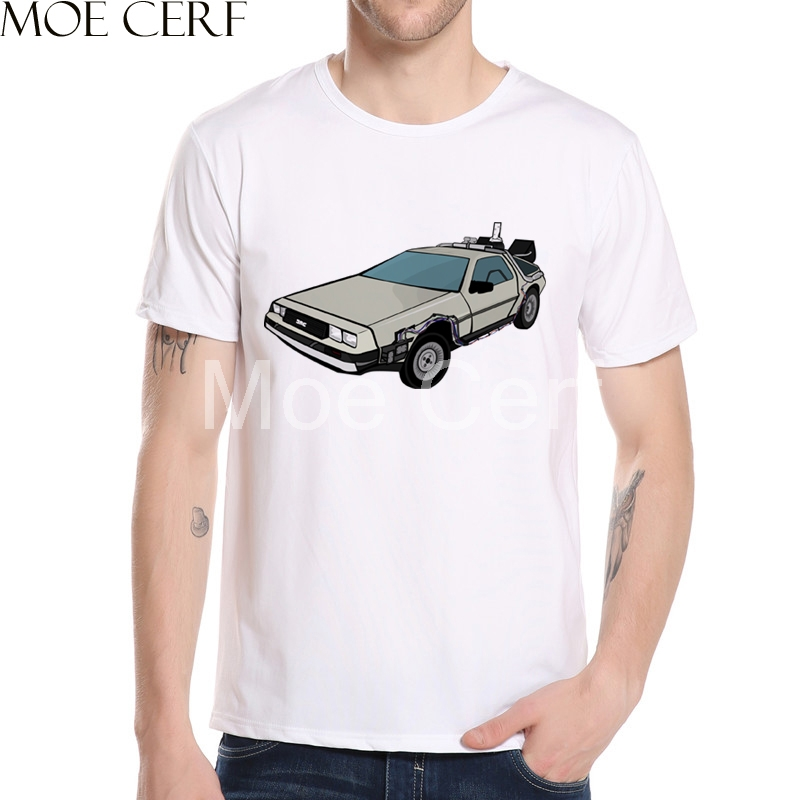 New Arrival Back To The Future DMC DeLorean T Shirt Men Movie Tee 3D Printed T Shirt Summer Short Sleeve Brand Clothing L5-53