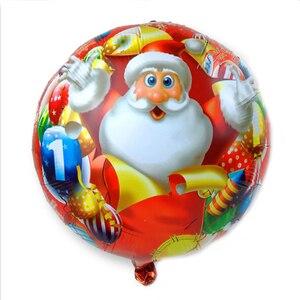 Image 4 - 100 יח\חבילה 18 אינץ סנטה קלאוס איש שלג חג המולד עץ רדיד בלוני החג שמח חדש שנה מסיבת הליום Balaos עיצוב הבית