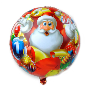 Image 4 - 100PCS/lot 18inch Santa Claus Snowman Christmas tree foil balloons Merry Christmas New Year Party Helium Balaos Decor Supplies