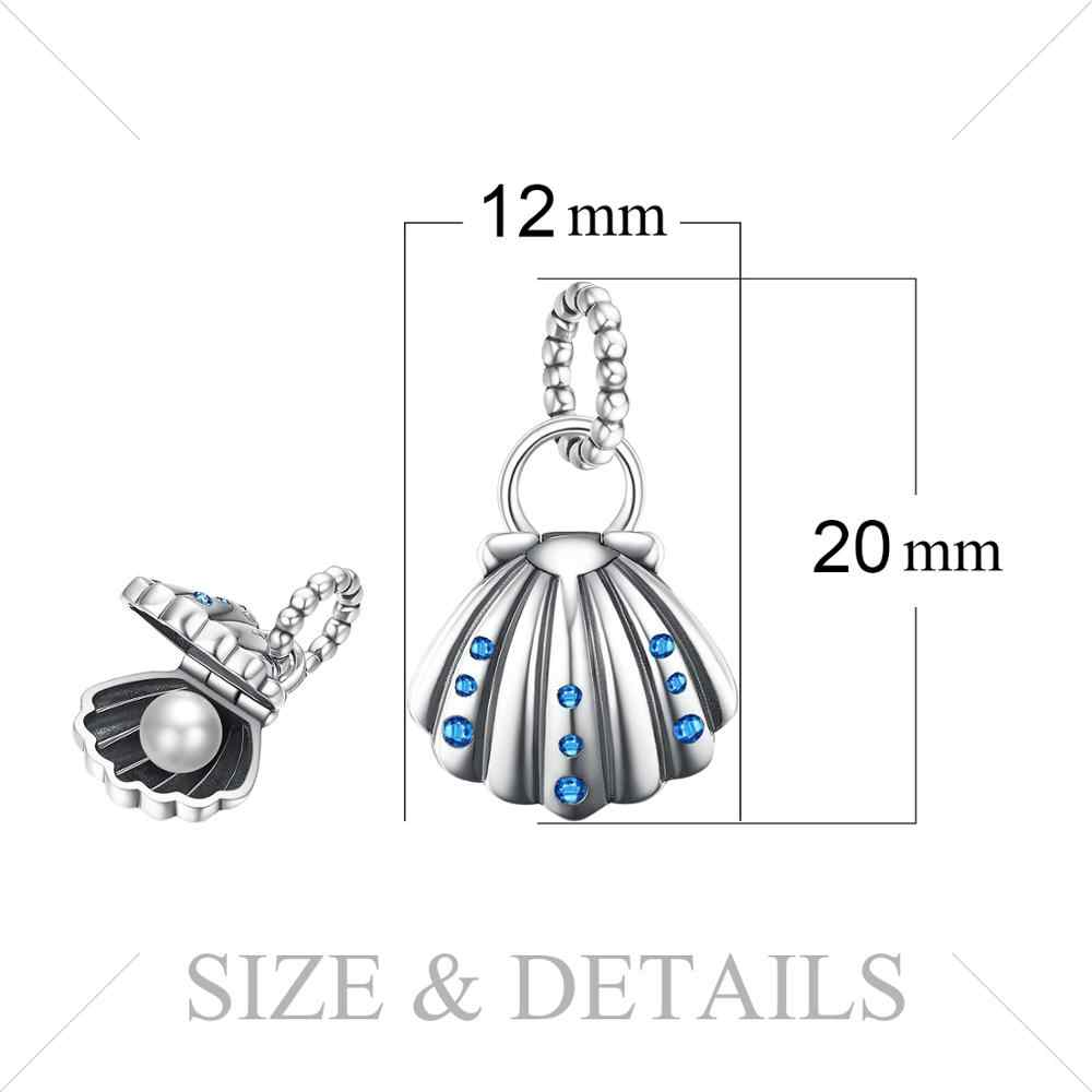 JewelryPalace פגז פרל 925 כסף סטרלינג חרוזים קסמי כסף 925 מקורי עבור צמיד כסף 925 מקורי תכשיטי ביצוע