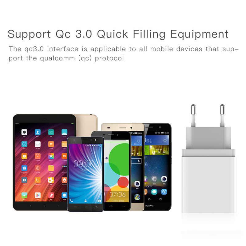 Robotsky 3 puertos rápido cargador rápido QC 3,0 30 W cargador USB para iphone 7 8 ipad para Samsung S8 Huawei enchufe UE/REINO UNIDO/EE. UU. de carga Xiaomi