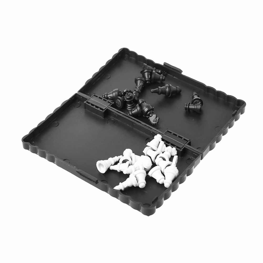 1 مجموعة البسيطة المحمولة الشطرنج للطي المغناطيسي البلاستيك رقعة الشطرنج مجلس لعبة طفل لعبة الترفيه الشطرنج ألعاب