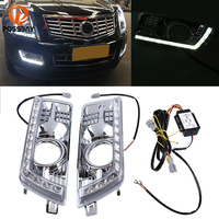 DRL LED Daytime Running Light For Cadillac SRX II 2010 2011 2012 2013 2014 2015 2016