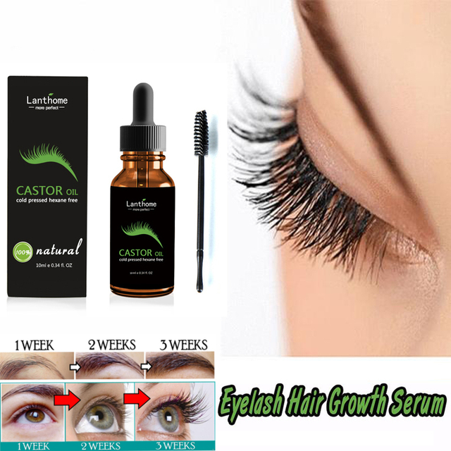 10ml Castor Oil Eyelash Hair Growth Serum For Eyelash Growth Lifting