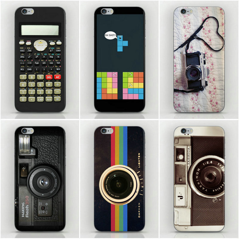 Luxury Camera Calculator Tetris Cases iPhone 4s PC Back Hard Cover housing 4 cell phone sets - Dream Hero Shop store