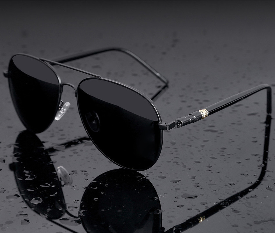Aviation Metail Frame Quality Oversized Spring Leg Alloy Men Sunglasses Polarized Brand Design Pilot Male Sun Glasses Driving 3