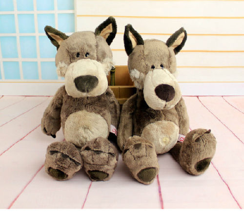 candice guo! hot sale Plush toy stuffed doll NICI cute forest animal Wolf Valentine birthday gift 1pc стоимость