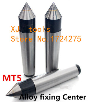 1 PCS Lathes Tailstock Machine Tool MT5 Morse Taper Alloy Solid Dead Center Drilling Lathe machine Support the Tailstock End