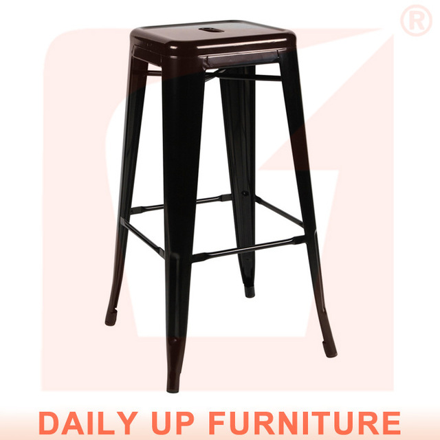 Charmant Kitchen Counter Home Chair Bar Stool Chair Stackable Metal French Bistro  Chairs Morden Cafeteria Chair For Sale