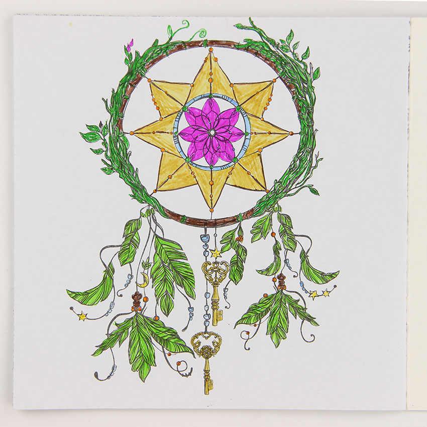 Libro para colorear con hermosas flores de Mandala de 24 páginas, libro de grafitis, libro de dibujo artístico para niños y niñas, libro de ocio para aliviar el estrés