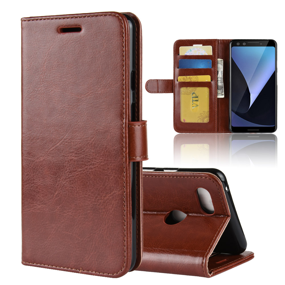 Wallet Case For Google Pixel 3 Flip Cover Stand Card Slot PU Leather Cases Magnetic Buckle Shells For Google Pixel 3